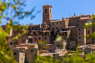 Sorano medieval town in Tuscany Italy