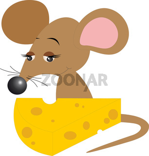 Mouse With Cheese.