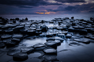 Giant's Causeway after sunset