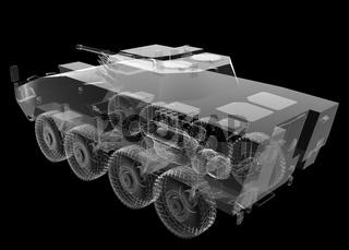 isolated transparent wheel tank