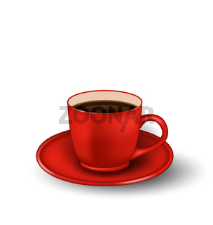Photo Realistic Cup of Coffee Isolated