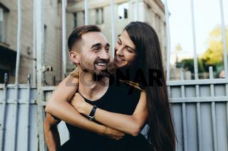 Young beautiful stylish fashion couple