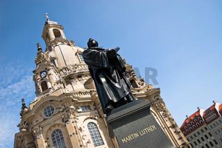 Martin Luther and Church Frauenkirche, Dresden