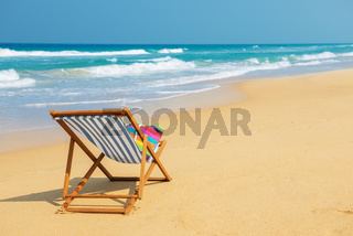 Deckchair  on the beach