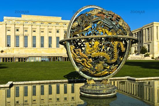 elestial Sphere Woodrow Wilson Memorial, Palais des Nations, United Nations, Geneva, Switzerland