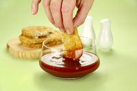 Dipping Hash Browns