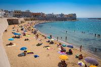 GALLIPOLI, ITALY - 28th August 2017: turism during summer season