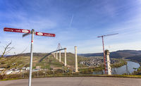 Moselle landscape view of the construction site of the Hochmosel Bridge  Rhineland-Palatinate G