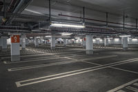 Looking into an empty underground car park
