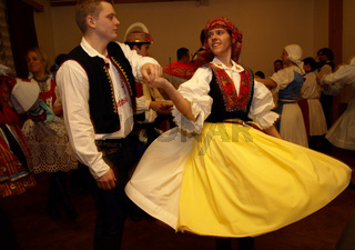People ih traditional costumes