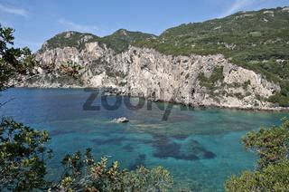 Küste auf Korfu