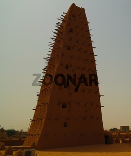 Exterior view to Grand mosque of Agadez, Niger