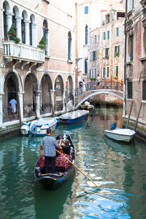 Traditional canal in Venice from one of the most beautiful viewpoint