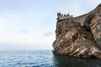 Swallow Nest Castle on Ay Todor cape in evening