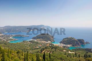 Paleokastritsa at Corfu, Greece