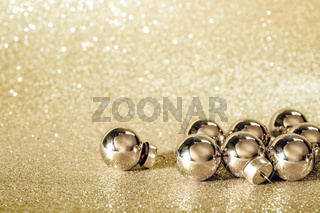 golden christmas ball background