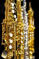 soprano saxophone keywork closeup
