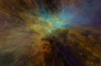 Universe, Colorful Space Nebula and Stars