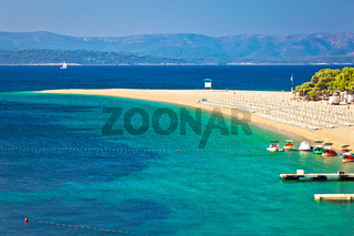 Zlatni Rat famous turquoise beach view