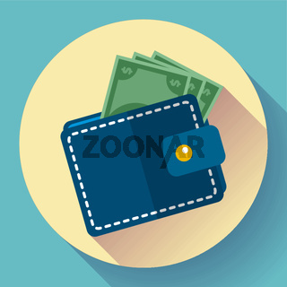 Vector Wallet and Money Icon