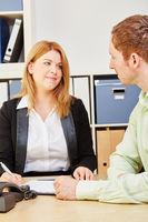 Beratung für Versicherung oder Geldanlage