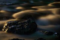 Rocks and River at Night