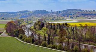 Das Tal der Thur bei Andelfingen, Kanton Zürich, Schweiz