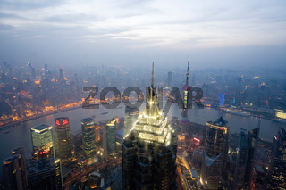 Blick vom Shanghai World Financial Center