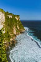 Coast near Uluwatu temple in Bali Indonesia