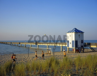 footbridge at Lubmin, West Pamerania, Baltic Sea,