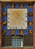 sundial at the wedding tower in Darmstadt
