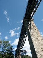 Viadukt, Eisenbahnbrücke, Zeilbrücke, Rohrbach
