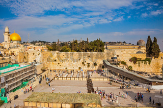 The Western Wall of the Temple after the prayer