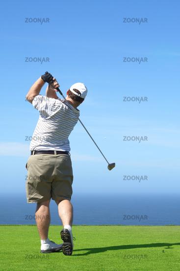 Golfer on the tee box