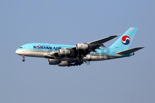 Korean Air Flugzeug Airbus A380 Flughafen Seoul Incheon