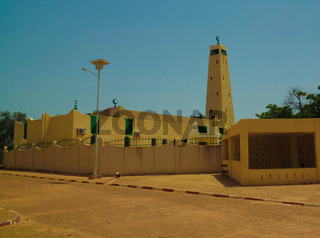 Exterior view to Grand mosque of Dosso , Niger