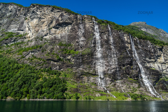 The seven sisters at the Geirangerfjord