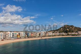 Blanes Town on Costa Brava in Spain