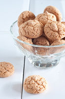 Typical Italian biscuits amaretti biscuits