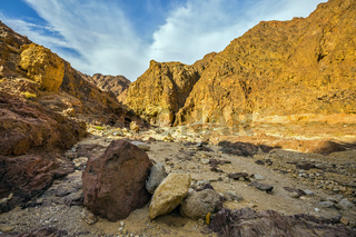 Black canyon in Eilat mountains