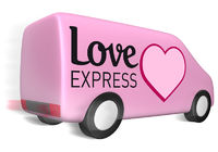 Lieferwagen love express
