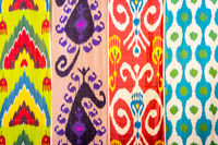 Traditional uzbek fabric patterns