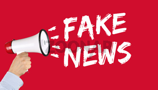 Fake News Nachrichten Wahrheit Lüge Medien Internet Megafon