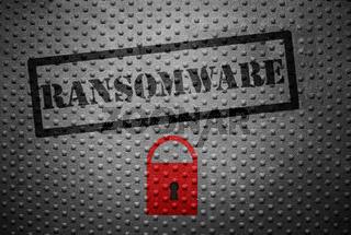 Ransomware cybercrime concept