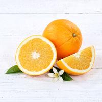 Orangen Orange Frucht Früchte Quadrat Holzbrett