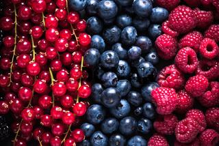 Farm fresh summer berry fruits background