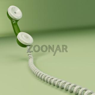 Phone reciever. 3d