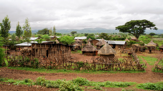 Traditional Konso tribe village Ethiopia