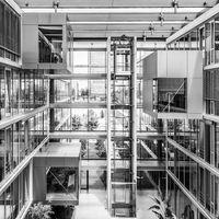 Interior of of morden office building.