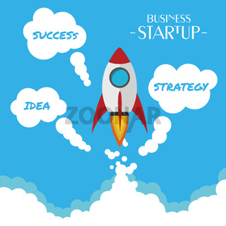 Flat Design business Startup - Success